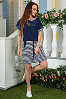 Платье морячка 2165 полосатое синее, фото 1