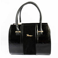 Женская сумка М62-лак/замш/63 black
