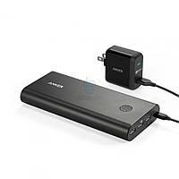 Сверхмощный, портативный аккумулятор, Anker PowerCore+ с системой интеллектуальной зарядки (чип Qualcomm) на 26800 мАч - черная (B1372111)