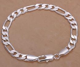 Серебрянный браслет 8мм 925 проба (покрытие)