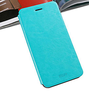 Кожаный чехол книжка MOFI Lenovo A8 A806 A808T бирюзовый