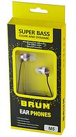 Наушники вакуумные BRUM M-5, с микрофоном, фиолетовые, фото 1
