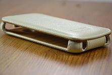 Кожаный чехол-флип BRUM для Lenovo A390 белый, фото 2