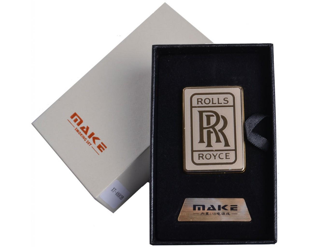 Спиральная USB зажигалка Rolls Royce №4693, прикуриваем в любую погоду, спираль накаливания, подарочная