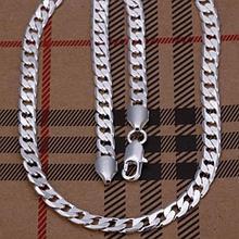 Стильная цепочка серебро 925 проба 6мм. (покрытие)