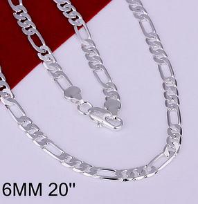 Цепочка Нежность серебро 925 проба 6мм. (покрытие), фото 2