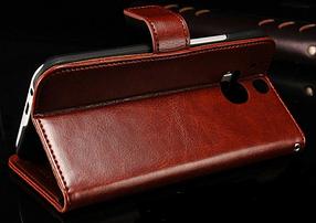 Кожаный чехол-книжка для  HTC One M8 черный, фото 3