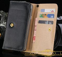 Кожаный чехол универсальный для Samsung, HTC, SONY и др. черный