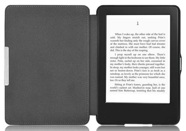 Кожаный чехол для Amazon Kindle Paperwhite 1 2 черный