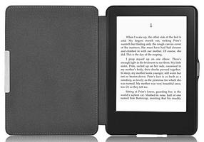 Кожаный чехол для Amazon Kindle Paperwhite 1 2 черный, фото 2