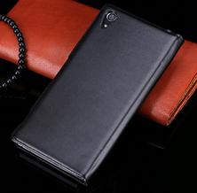 Кожаный чехол смарт для Sony Xperia Z2 L50 D6502 D6503 D6543 черный, фото 2