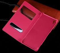 Кожаный чехол смарт для Sony Xperia Z2 L50 D6502 D6503 D6543 черный, фото 3