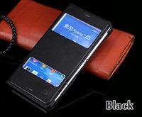 Кожаный чехол смарт для Sony xperia Z3 L55t D6603 D6616 D6633 D6653 черный
