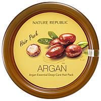 Nature Republic, Средство для ухода за волосами Argan Essential, 12 унций