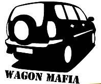 Виниловая наклейка на авто - вагон мафия 2 (от 12х15 см)