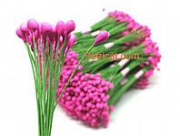 Тайские тычинки Розовые на проволоке 5 мм 25 шт/уп