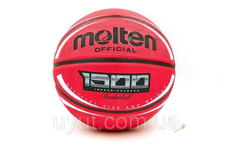 Мяч баскетбольный резиновый №7 MOLTEN (резина, бутил, красный)