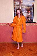Махровый хлопковый халат  Mariposa Оранжевый