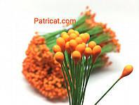 Тайские тычинки Оранжевые на проволоке 5 мм 25 шт/уп