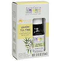 Aura Cacia, Чистое эфирное масло, лимон и чайное дерево, .5 ж. унций (15 мл)