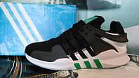 Мужские кроссовки Adidas Equipment черные с зеленым