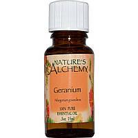 Natures Alchemy, Эфирное масло герани, 0.5 унции (15 мл)