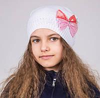 """Демисезонная шапка для девочек """"Бант"""", фото 1"""