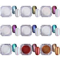 Набор зеркальных пигментов для ногтей Magic Powder (9 цветов по 2гр)