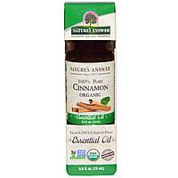 Natures Answer, Органические эфирные масла, масло корицы, 0,5 жидких унций (15 мл)