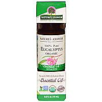 Natures Answer, Органическое эфирное масло, 100% чистый эвкалипт, 15 мл