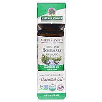 Natures Answer, Органические эфирные масла, масло розмарина, 0,5 жидких унций (15 мл)