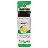 Natures Answer, Органические эфирные масла, масло апельсина, 0,5 жидких унций (15 мл)