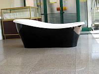 Корпусная отдельно стоящая ванна Беата - Black 170 см