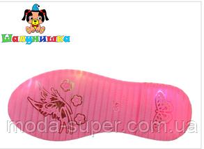 Сандалии со светодиодной (LED) подсветкой подошвы, для девочек  , фото 3