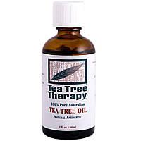 Tea Tree Therapy, Масло чайного дерева, 100% чистое австралийское масло, 2 жидкие унции (60 мл)