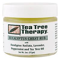 Tea Tree Therapy, Эвкалиптовая мазь - растирка для груди, 2 унции (57 г)