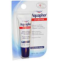 Aquaphor, Восстанавливающее средство для губ мгновенного действия без отдушек, 0,35 жидких унций (10 мл)