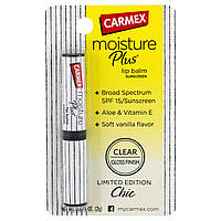 Carmex, Бальзам для губ Moisture Plus, фактор защиты от солнца 15, ваниль, 0,075 унции (2 г)