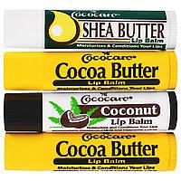 Cococare, Набор бальзамов для губ из 4 шт. по 0,15 унции (4,2 г)