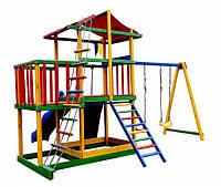 Детская спортивная площадка , Деревянный игровой комплекс для детей Babyland-11 Игровой комплекс цветной
