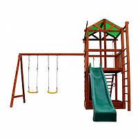 Детская спортивная площадка, Деревянный игровой комплекс для детей Babyland-6 Игровой комплекс для дачи