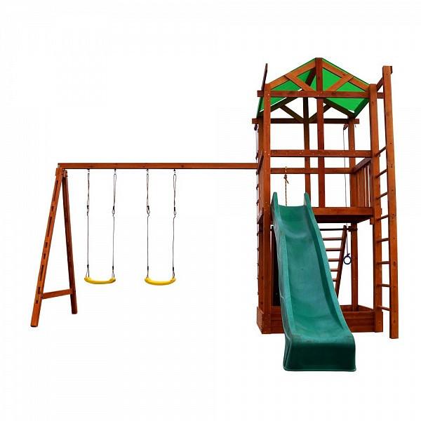 Детская спортивная площадка, Деревянный игровой комплекс для детей Babyland-6 Игровой комплекс для дачи - 1toys Магазин детских товаров в Днепре