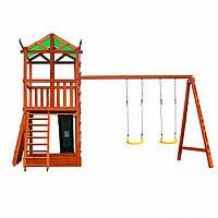 Деревянный игровой комплекс для детей Babyland-4 Детская спортивная площадка