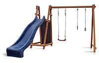 Деревянный игровой комплекс для детей Babyland-8 Детская спортивная площадка горка 3-х метровая