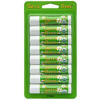 Sierra Bees, Органические бальзамы для губ, Мятный взрыв, 8 штук, каждый по 0,15 унции (4,25 г)
