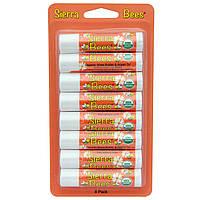 Sierra Bees, Органические бальзамы для губ, Масло ши и аргановое масло, 8 штук, каждый по 0,15 унции (4,25 г)