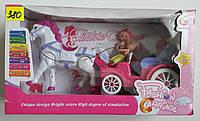 Карета с лошадью и куклами музыкальная
