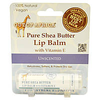 Out of Africa, Pure Shea Butter Lip Balm, with Vitamin E, Unscented, 0.25 oz (7 g)