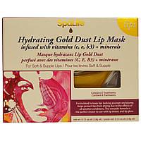 My Spa Life, Увлажняющая маска для губ с золотом, Витамин С, Е, В3 + минералы, на 6 применений