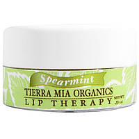 Tierra Mia Organics, Уход за губами на основе сырого козьего молока, мята, 0,33 унции